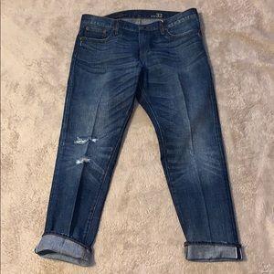 J Crew Slim Broken In Boyfriend Jeans Size 32